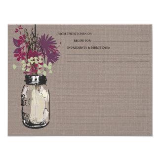 Mason Jar & Wildflowers Recipe Card
