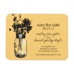Mason Jar & Wildflowers Save the Date Rectangular Magnets