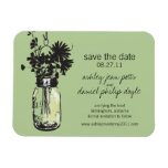Mason Jar & Wildflowers Save the Date Rectangle Magnet