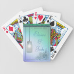 Mason Jar with flowers and greenery Playing Cards