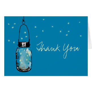 Mason Jar with Whimsy Fireflies Card