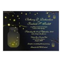 Mason Jars and Fireflies at Dusk Invitation