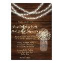 Mason jars and lights rustic wedding invitations (<em>$2.01</em>)