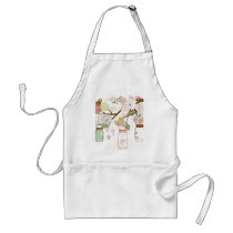 Mason Jars and Pretty Flowers Adult Apron