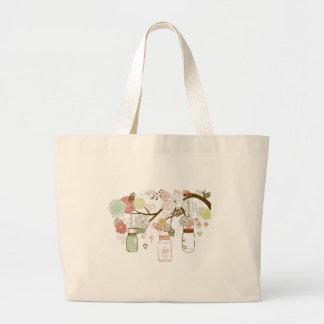Mason Jars and Pretty Flowers Canvas Bag