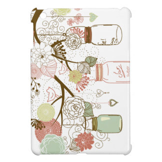 Mason Jars and Pretty Flowers Case For The iPad Mini