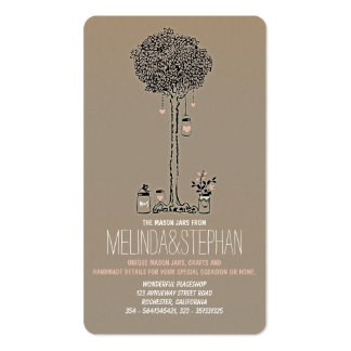 Mason Jars Business Cards