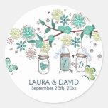 Mason Jars Garden Wedding | Circle Sticker