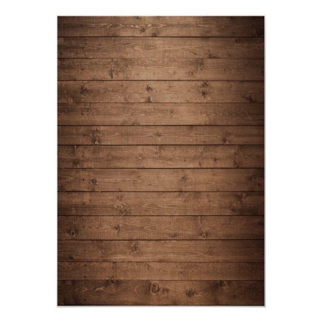 Mason Jars Lights Rustic Wood Lace Bridal Shower Card (back side)