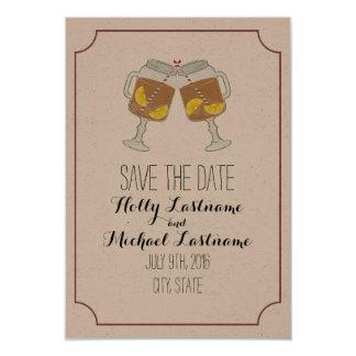 Mason Jars Of Sweet Tea Wedding Save The Date Card