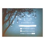"Mason jars tree country rustic wedding RSVP cards 3.5"" X 5"" Invitation Card"