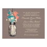 Mason Jars with Wildflowers Bridal Shower Custom Invitation