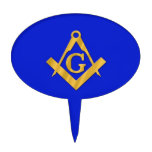 Mason - Masonic Blue Cake Picks