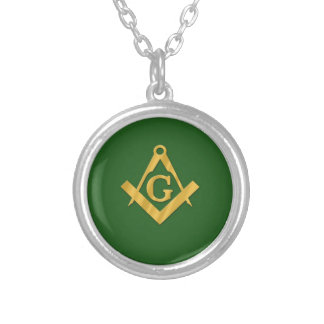 Mason Masonic on Green Custom Necklace