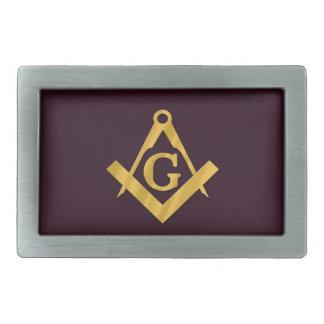 Mason Masonic Product on Brown Belt Buckle