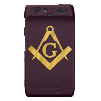 Mason Masonic Product on Brown Droid RAZR Covers