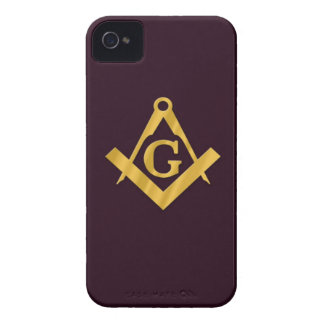 Mason Masonic Product on Brown iPhone 4 Case-Mate Cases