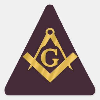 Mason Masonic Product on Brown Triangle Sticker