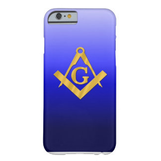 Mason Masonic with Gradient Blue Barely There iPhone 6 Case