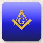 Mason Masonic with Gradient Blue Drink Coaster