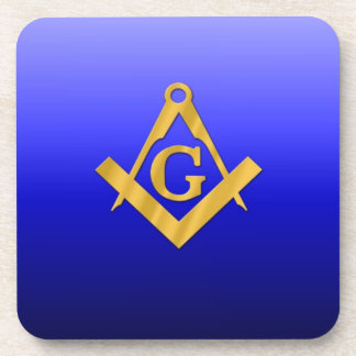 Mason Masonic with Gradient Blue Drink Coaster