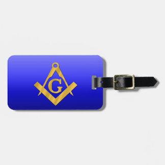 Mason Masonic with Gradient Blue Luggage Tag