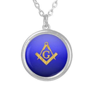 Mason Masonic with Gradient Blue Necklaces