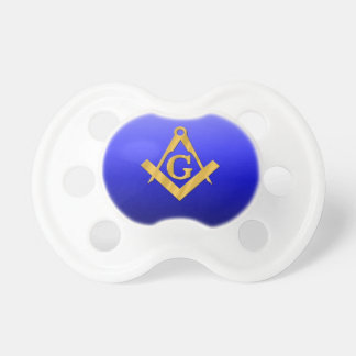 Mason Masonic with Gradient Blue Pacifier