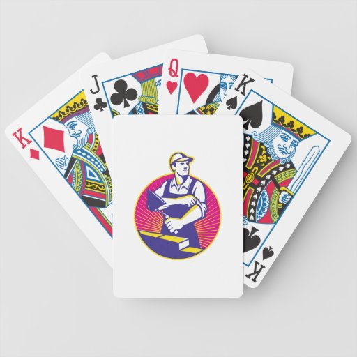 Mason Masonry Construction Worker Trowel Playing Cards
