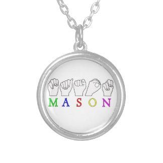 MASON   NAME ASL FINGER SPELLED NECKLACE