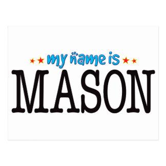 Mason Name Postcard