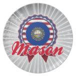 Mason, NH Party Plates