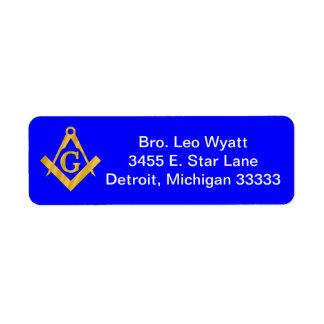 Mason or Masonic Return Mailing Label