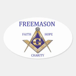 Mason Oval Sticker