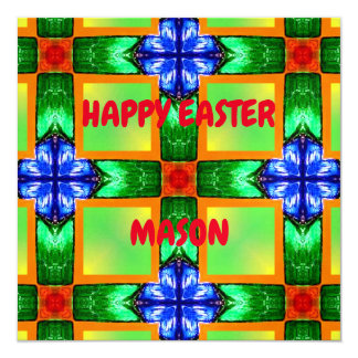 MASON ~ Personalised Easter card pattern ~