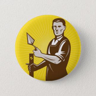 mason plasterer construction worker button