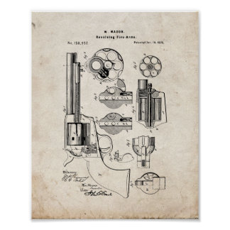 Mason Revolving Fire-arm Patent - Old Look Poster