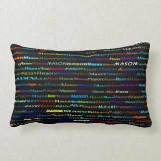 Mason Text Design I Lumbar Pillow