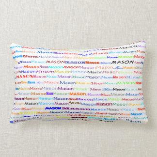 Mason Text Design II Lumbar Pillow