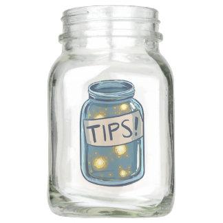 Mason Tips Glow Jar