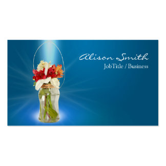 Mason Unit of capacitance with flowers Business Card
