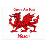 Mason Welsh Dragon Postcard