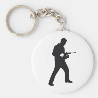 mason with drill hammer keychain