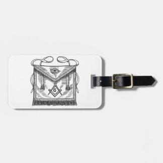 Masonic Apron Bag Tag