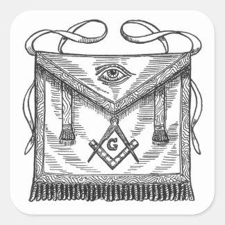Masonic Apron Square Sticker