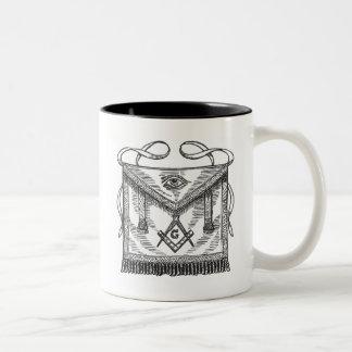 Masonic Apron Two-Tone Coffee Mug