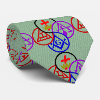 Masonic Block Neck Tie