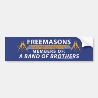 Masonic Brothers Car Bumper Sticker