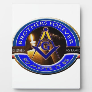 Masonic Brothers Plaque