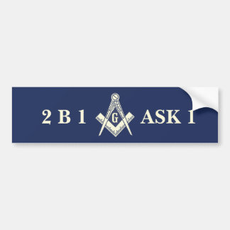 Masonic Bumper Sticker